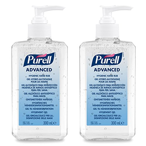 PURELL® Advanced Doble Pack - PURELL gel desinfectante para manos (2 x 300 ml - Botella c/bomba)