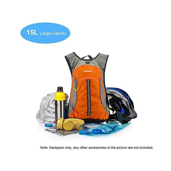 51SDxk1AnXL. SS600  - Lixada Mochila transpirable e impermeable con capicidad de 15L para bicicleta, viajes al aire libre, montañismo…