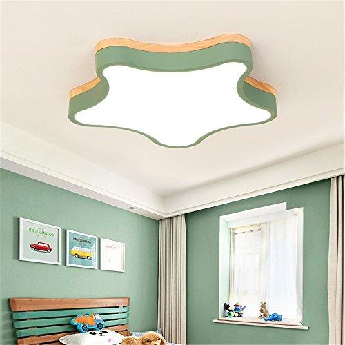 5151BuyWorld Lamp eenvoudige Macaron Moderne plafondlamp in de vorm van kleuren, ster, kleurrijk, metaal en rubber, hout, plafondlamp, schaduw acryl, kinderen, Roomco