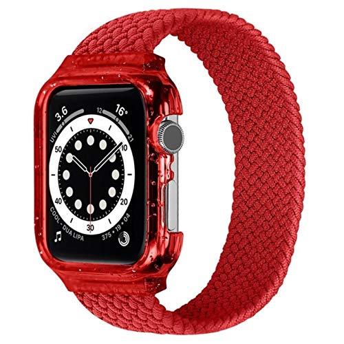 Bucle individual trenzado de tela Bgfh para Apple Watch Band 44mm 42mm 40mm 38mm IWatch Band pulsera Apple Watch Series 4 5 Se 6