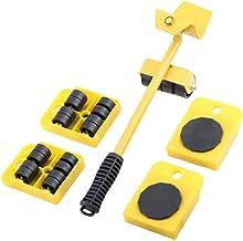 Set van 5 eenvoudige meubellifter mover gereedschapsset meubelslider heavy duty meubilair roller verplaatsen tot 150 kg / ...