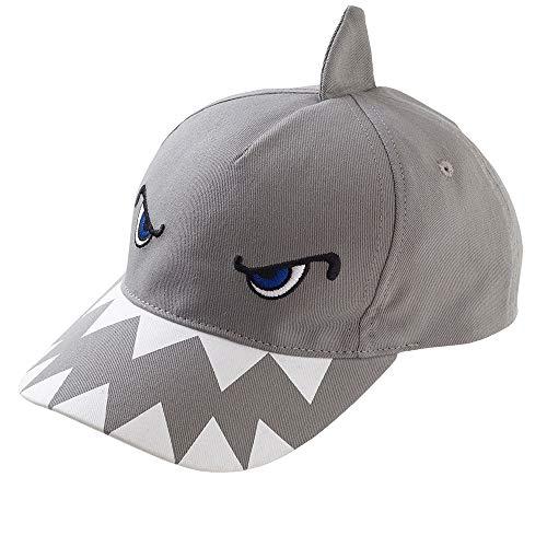 Boys Kids Dinosaur Shark 3D Baseball Peak Cap Summer Sun Hats - Shark - 3-6 Years