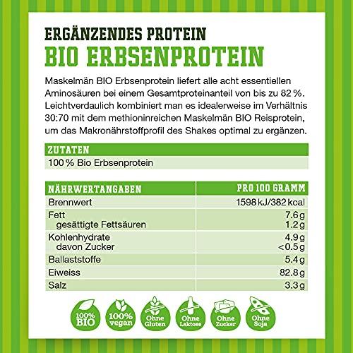 Maskelmän Erbsenprotein – Bio – 82% Protein – 1000g - 2