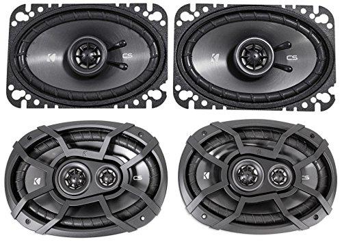 2 KICKER 43CSC6934 6x9 900w Car Audio Speakers+2 43CSC464 4x6 300w Speakers