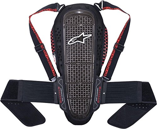 Rückenprotektor Alpinestars Nucleon KR-1 Backprotector Black/Smoke/red, L