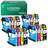 GREENSKY LC223XL Druckerpatronen Kompatibel Ersatz für Brother LC223 LC223 XL für Brother MFC J5320DW MFC J4420DW MFC J480DW DCP J562DW MFC J4620DW DCP J4120DW MFC J4625DW MFC J680DW (16 Pack)