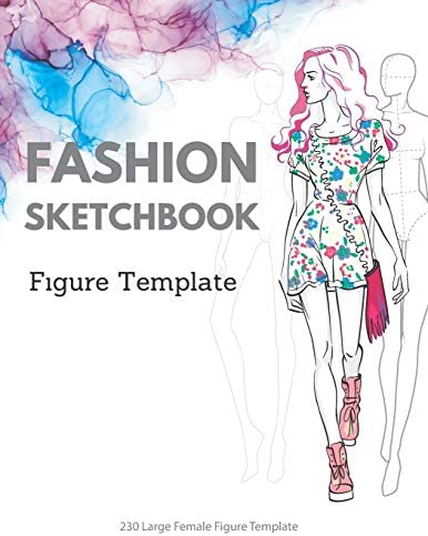 Fashion Sketchbook Figure Template 230 Large Female Figure Template for quickly easily Sketching product image