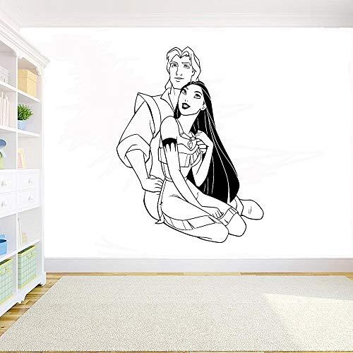 wZUN Adhesivo de Pared Príncipe decoración de Vinilo decoración de la Sala de Estar del hogar Arte de la Pared de la habitación de los niños móvil 91X68cm