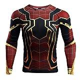 YWEIWEI T-Shirt, Collants Spiderman, Vêtements des Vengeurs Union, Fitness Manches Longues Hommes A-XXL