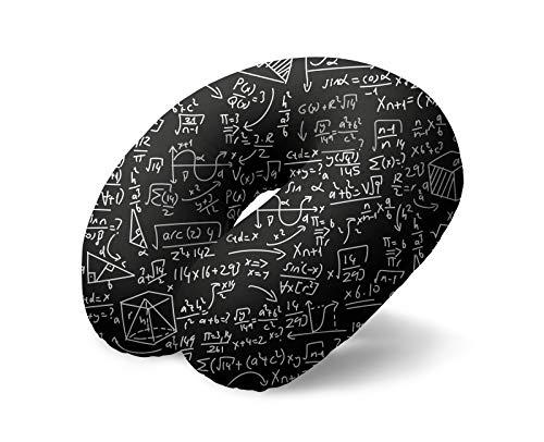 I-TOTAL® - Cuscino da viaggio/Cuscino da viaggio per collo Morbido per supporto cervicale/Cuscini Cuscino da viaggio divertente (Matematic)