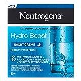 Neutrogena Hydro Boost Nacht Creme, feuchtigkeitsspendende Nachtpflege Gesichtscreme mit Hyaluronsäure, pflanzlicher Trehalose und selbstglättendem Gel (1 x 50 ml)