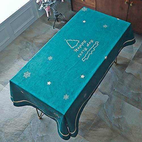Baumwolle Tischdecken im Stil, Tischdeckenbezug Leinen Waschbar Tischdecke für ,100X140cm
