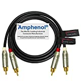 3 Foot – Directional Quad High-Definition Audio Interconnect Cable Pair Custom Made by WORLDS BEST CABLES...