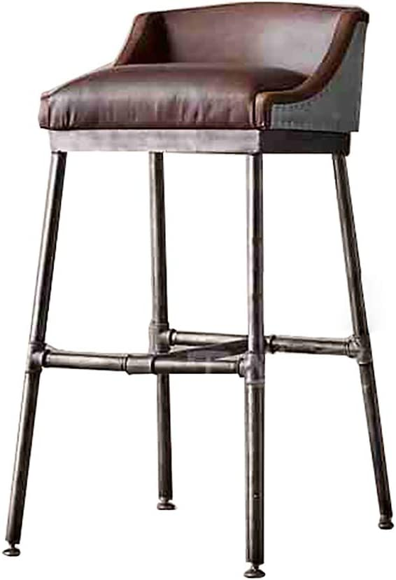 DNSJB Product bar stool Metal High Home Safety and trust PU Leather Chair Lounge