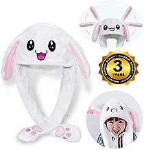 wangwang Bunny Hat Rabbit Ear Moving Jumping Tik Tok Cap Very Cute Suitable for Women Girl Kid Party Cap Gift Halloween Christmas Easter