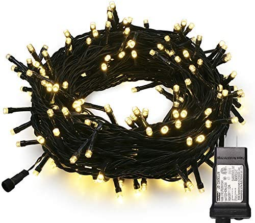 MYGOTO 33FT 100 LEDs String Lights Green Wire Waterproof Fairy Lights 8 Modes 30V UL Certified product image