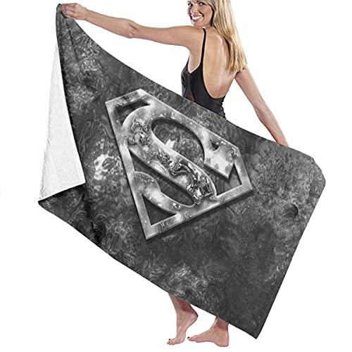 IUBBKI Super-Man Toalla de baño súper Suave Natación SPA Toalla Ducha Camping Yoga Toalla de Playa de Arena Tamaño Personalizado 31x51 Pulgadas