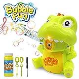 PUZ Toy Bubble Machine Giocattoli per Bambini Bubble Marker Giocattoli Regali per 3-8 Anni Ragazze Bolle per bomboniere Giocattoli Dinosauro per Ragazzi Giocattoli Estivi Musica a LED