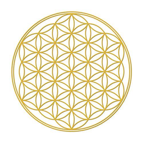 Blume des Lebens Aufkleber, 5 cm, Gold, 50 Stück