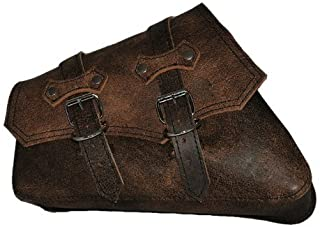 La Rosa Harley-Davidson Sportster XL Rustic Brown Leather ClaSICK Left Swing Arm Saddle Bag