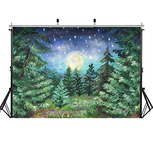 Photography Background Christmas Snow Christmas Trees Snowfield Backdrop Winter Forest Birthday Artistic Photo Shoot A4 5x3ft/1.5x1m