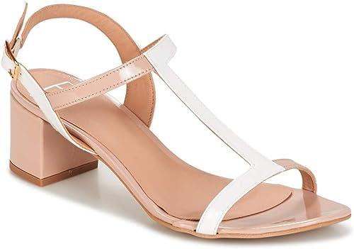 betty london Crepe Sandalen Sandalen Sandalen Sandaletten Damen Beige Weißs - 39 - Sandalen Sandaletten  billige Designermarken