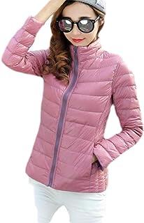 Macondoo Women's Reversible Warm Packable Lightweight Puffer Down Coat Jacket