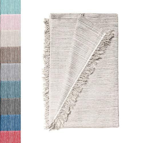 Mehrzweck Tagesdecke : Plaid Sofa, Baumwolle Decke, Bettdecke, Seide aus Baumwolle Sofas & andere Fasern. Großartige Qualität. Plaid Tagesdecke (Ecru marmoriert 04, 230x260cm)