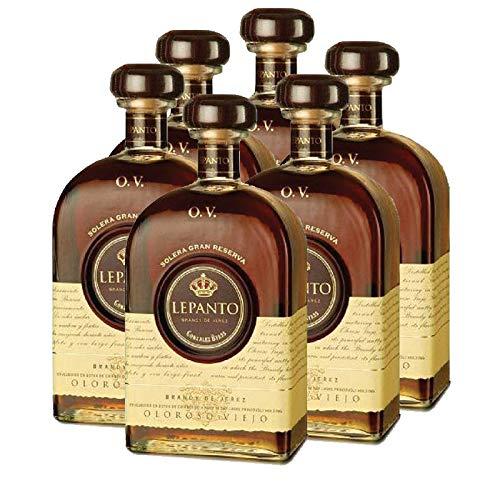 Brandy Lepanto OV de 70 cl - D.O. Jerez de la Frontera - Bodegas Gonzalez Byass (Pack de 6 botellas)