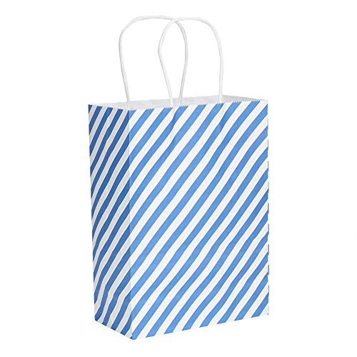 AUNMAS 25 Stks Gestreepte Kraft Papier Geschenktassen Met Handvatten Inpakpapier Organizer Recycleerbare Tote Bag Present Inpakbenodigdheden