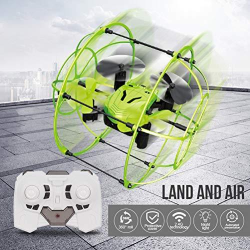 EisEyen Mini Sky Walker RC Drone Quadricottero 2,4 GHz 6 Assi Gyro Arrampicata da Parete One Key Return 3D Flip Verde