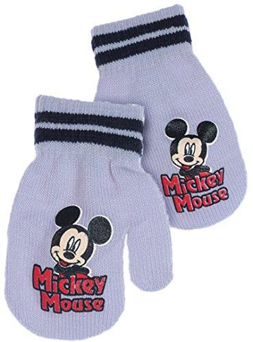 Moufles bébé garçon Mickey Mouse Gris, Bleu et Marine TU (6/36mois) (Bleu)