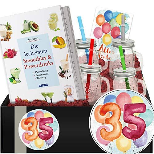 Geschenkidee 35. Jubiläum - Smoothie Geschenk Box - Geschenke 35 Geburtstag