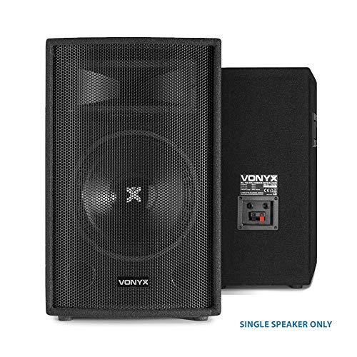 Vonyx 10 Inch 500W 2 Way Bass Reflex Passive Bedroom DJ PA System Party...