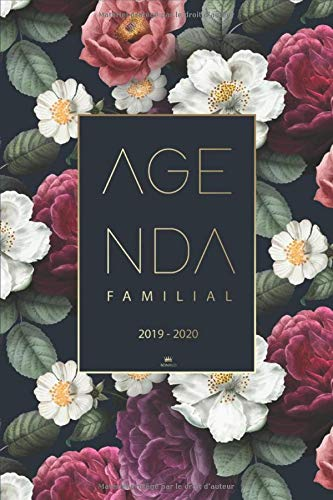 Agenda Familial 2019 2020: Agenda de poche, Planner, Agenda Semainier 2019-2020 pour 4 membres de la famille - Calendrier familial 2019 2020 | Agenda Journalier de Août 2019 à Décembre 2020