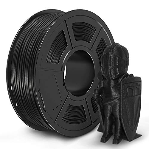 JAYO Carbon Fiber PLA 3D Printer Filament, 1.75 PLA Filament Dimensional Accuracy +/- 0.02 mm, 1 kg Spool, Carbon Fiber 1.75mm, Black