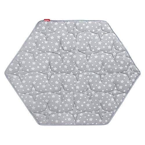 Hexagon Playpen Mat, Baby Playmat Kids Tent Mat Hexagon Rug Mat 55x47in Suitable for Regalo My Play Portable Play Yard Playpen