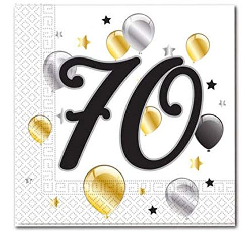 Prezer Balloons 70. Geburtstag 20 Servietten