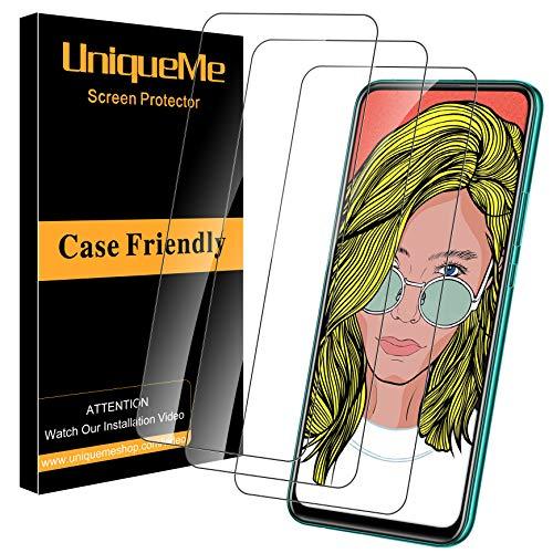 UniqueMe [3Pack] Schutzfolie für Huawei P Smart Pro/P Smart Z Panzerglas, Displayschutz für Huawei P Smart Pro/P Smart Z, HD klar Folie gehärtetes Glas