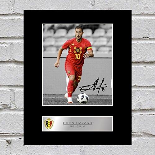 Eden Hazard Photo dédicacée encadrée Belgique