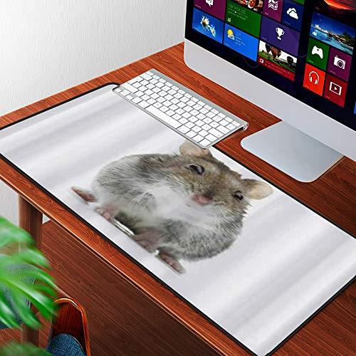 Luoquan Alfombrilla Raton Grande Gaming Mouse Pad,asombrado djungaro hámster Lindo,Lavable, Antideslizante Diseñada para Gamers, Trabajo de Oficina