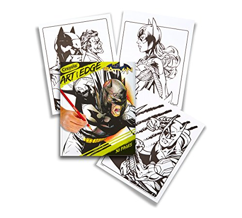 Art with Edge Crayola, Batman Collection Adult Coloring Book
