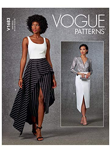 Vogue Pattern V1683A5 Damenrock, A5, Gr. 34-38-40, Papier, verschieden, (6-8-10-12-14)