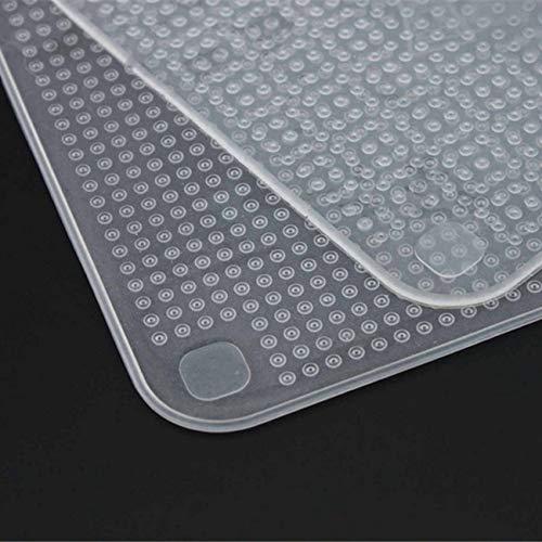 Ashley GAO 4 unids/lote reutilizable de silicona Wrap Seal Alimentos Frescos Mantener Envoltura Tapa Stretch Vacío Alimentos Envoltura Herramientas de Cocina