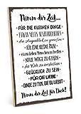 TypeStoff Holzschild mit Spruch – NIMM DIR Zeit – im