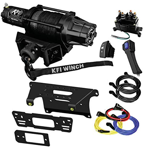 Learn More About KFI Combo Kit – AS-50w Assault Wide Winch Mount Bracket, Wiring, Switches, Remote Kit – compatible with 2015-2016 Polaris 570-6 Ranger Crew 4×4 – Full-Size