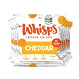 JUST 100% ARTISANAL CHEESE: Every Whisps crisp is baked in small batches with herbs and spices, created by master cheesemakers in the USA KETO-FRIENDLY & GLUTEN-FREE: Keto-Friendly, Gluten-Free, and Lactose-Free. Made in a facility that doesn't proce...