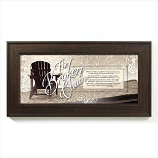 The Broken Chain Bereavement In Memory 8 x 16 Wood Wall Art Frame Plaque