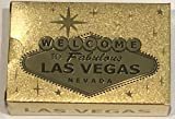 Las Vegas Welcome to Sign Gold Foil Playing Cards