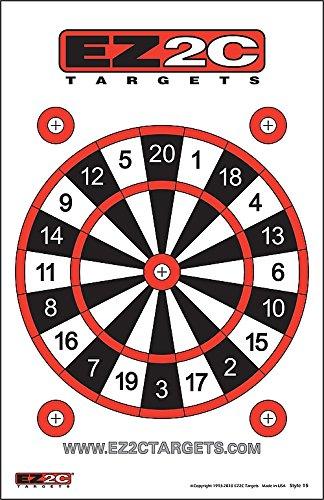 EZ2C Targets Dart Board Style 15 25 Pack